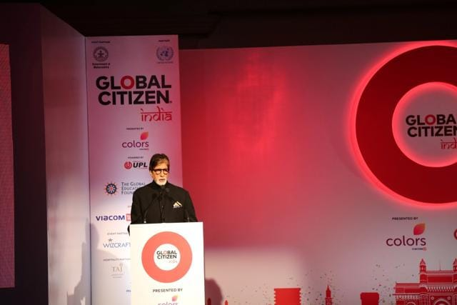 Amitabh Bachchan during the press conference to launch Global Citizen Festival of India in Mumbai.