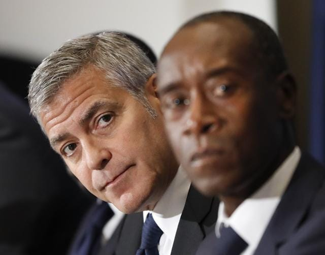 George Clooney,Don Cheadle,South Sudan