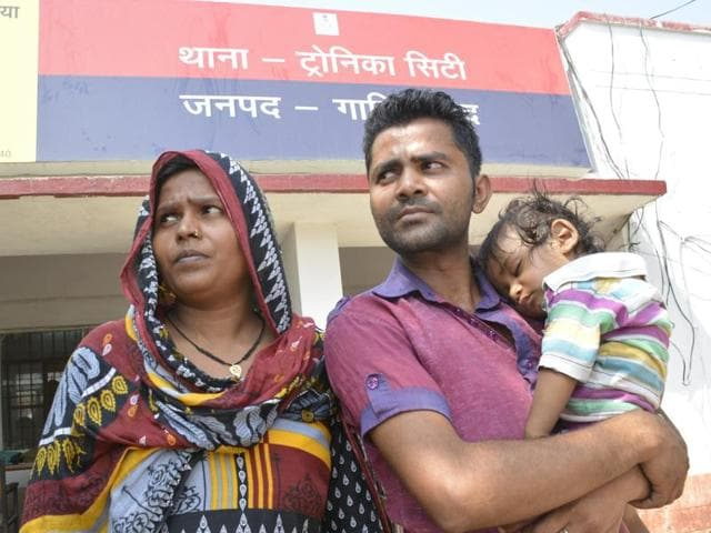 13-month-old Yash after being reunited with his parents Sachin Kumar and Pooja.