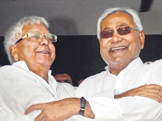 File photo of RJD chief Lalu Prasad Yadav (left) and Bihar chief minister Nitish Kumar.