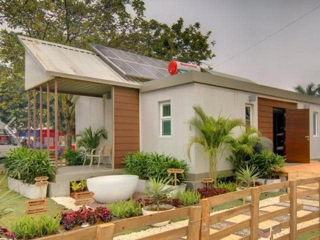 A housing society designed by Vidur Bharadwaj is based on the concept of 'shunya', a zero energy home.