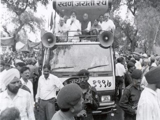 LKAdvani was the man behind the saffron resurgence which followed his Rath Yatra in 1990.