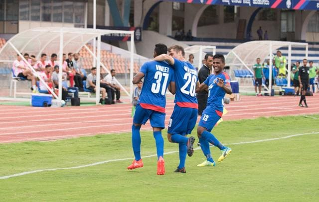 Vineeth struck in the seventh minute for the home side when he tapped home from close range.