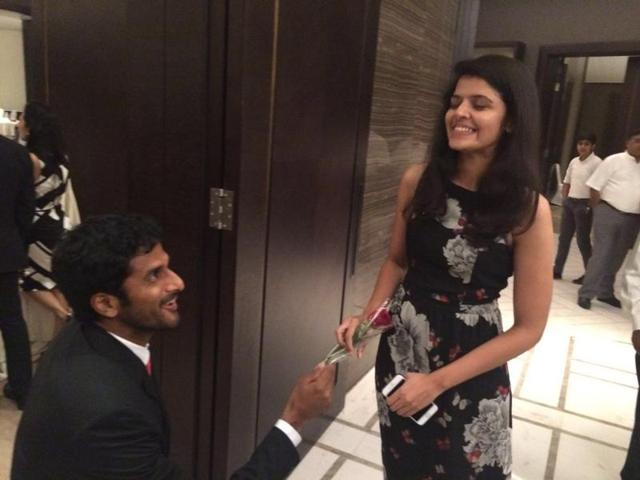 Indian tennis player proposes to girlfriend at Davis Cup dinner, she says yes
