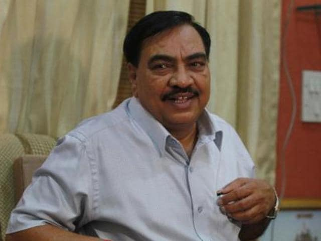 """""""At times in politics, one has to reap exactly what one sows. Khadse is currently experiencing it. He had the joy of breaking the alliance with the Shiv Sena. But he must have not thought that his happiness will be so short-lived,"""" the party said in the Saamna editorial."""