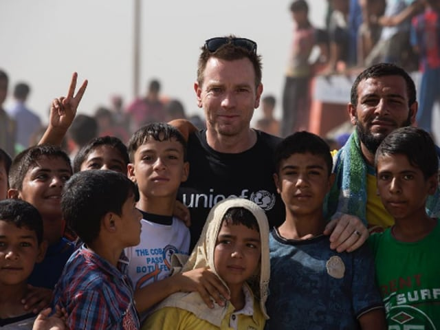 """""""Ewan McGregor is not only a multi-talented individual, but has led by example in showing that even one person can make a huge difference in the life of a child,"""" chairman of BAFTA Los Angeles Kieran Breen said."""