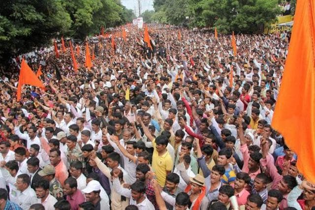 The protests threaten to polarise the state on the lines of caste with a potential face-off between Marathas and the Dalits.