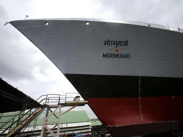 The second ship of the Project 15B, a guided missile destroyer christened 'Mormugao' for Indian Navy, will be launched in Mumbai on September 17.