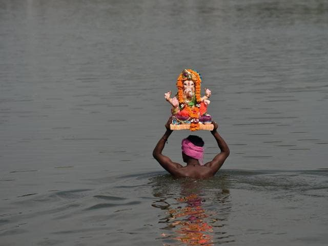 Five people drowned in a rivulet on the outskirts of Rajkot during immersion of Lord Ganesh idol.