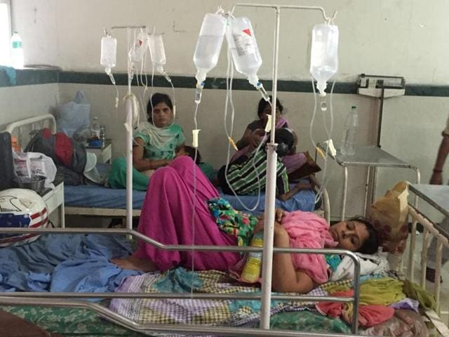 Patients of chikungunya and other viral infections admitted to Civil Hospital in Gurgaon.