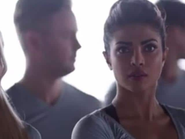 Priyanka Chopra in a still from the blooper video shared by official Facebook page of Quantico.