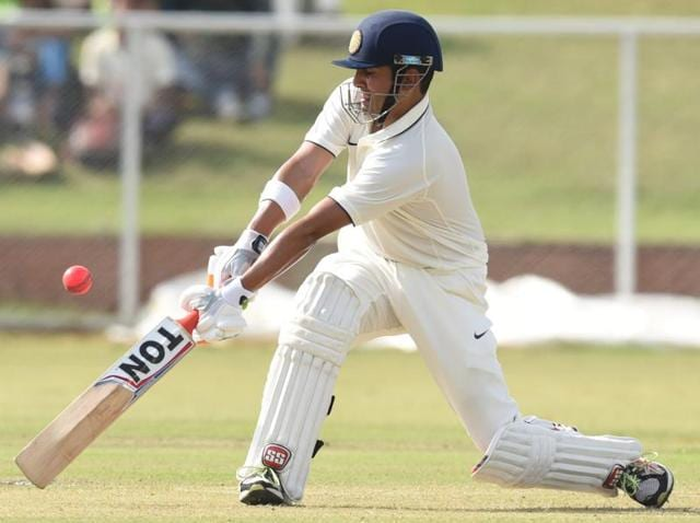 India Blue Captain Gautam Gambhir in action against India Green during the Duleep Trophy.