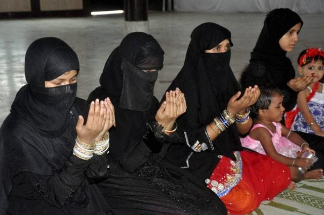 Muslim women pray on Eid-ul-Fitr in Lucknow. The right to religion is the weakest of all fundamental right as it's subject to public order, morality, health and all other fundamental rights. In case of a conflict between right to religion and any other fundamental right, the former must give way to the latter.