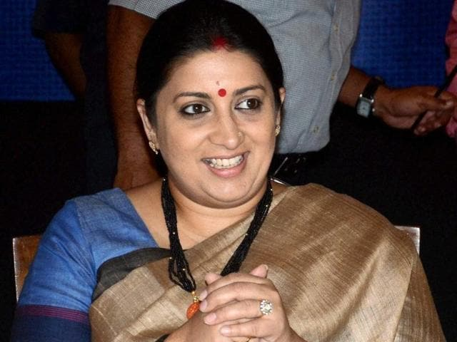 Union textiles minister Smriti Irani at the inauguration of Jute Sector Shakehoders' meeting in Kolkata.