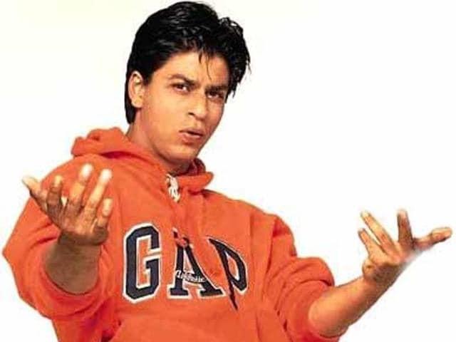 Shah Rukh Khan in a signature GAP sweatshirt from Kuch Kuch Hota Hai (1998).
