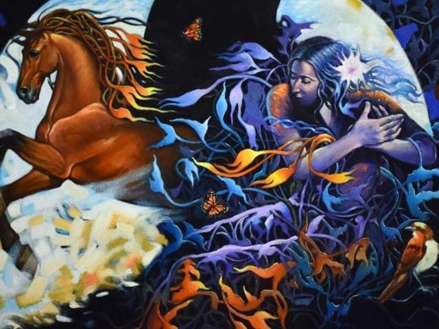 Force of nature by artist Gautam Partho Roy.