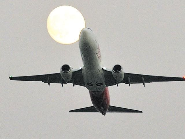 Flight to Sharjah takes off from Chandigarh International Airport on Thursday.