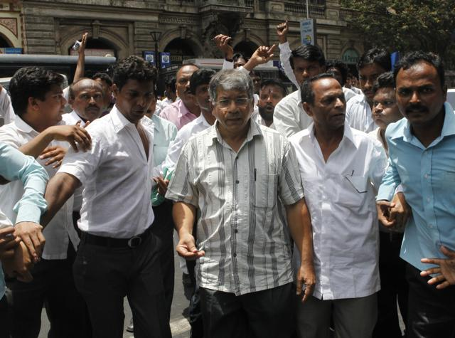 Dalit rights activist Prakash Ambedkar at a college in Mumbai in this June 1, 2012 file photo.