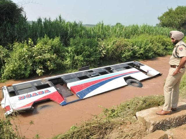 Eight injured,Bist-Doab canal,Doaba Transport Company