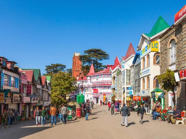 Shimla's Ridge road. Kiran Manral's new book is set in  a hill town quite like this one