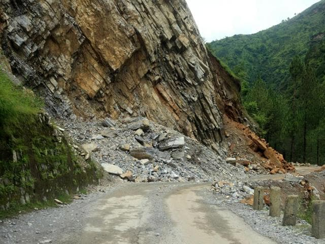 The landslide triggered by heavy rains since Friday has created at least 20 roadblocks in Aizwal and work was on to unclog them.