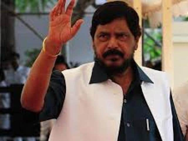 """Athawale said that Dalits are living under a cloud of due to the Maratha morches. """"The morchas are all aimed at scrapping the Act and like them even we have the right to protest,"""" he said."""