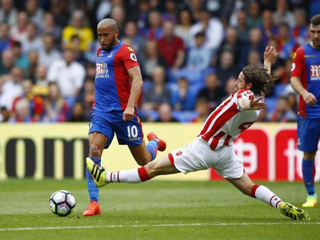 Andros Townsend, left, scored one goal and set up another.