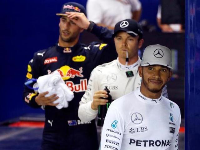 Nico Rosberg,Daniel Ricciardo,Singapore GP