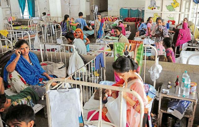 Children's ward at Government Rajindra Hospital in Patiala.