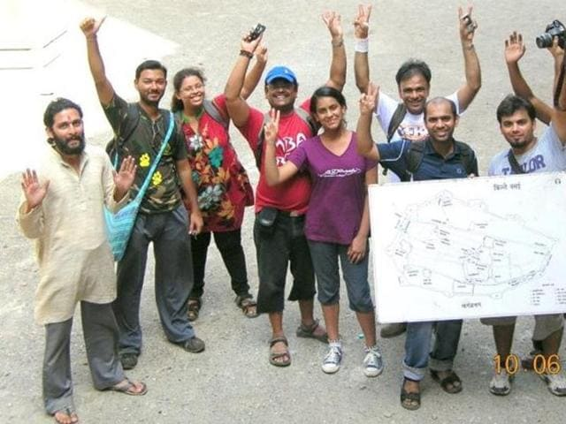 Since they began their clean-up activities, Raut and other volunteers noticed that visitors defaced walls with crayons or chalk, destroying centuries-old engravings on the walls.