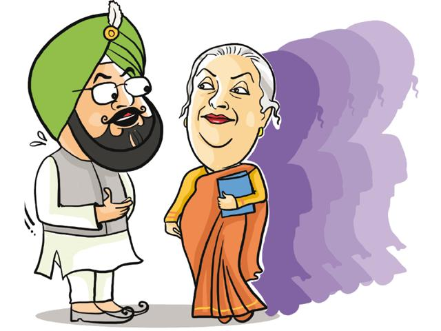 If there is one crown Punjab Congress president Captain Amarinder Singh wins hands down among Punjab politicians, it is chivalry and treating women with lot of grace.