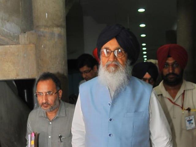 Punjab CM Parkash Singh Badal during monsoon session at Punjab Vidhan Sabha in Chandigarh.