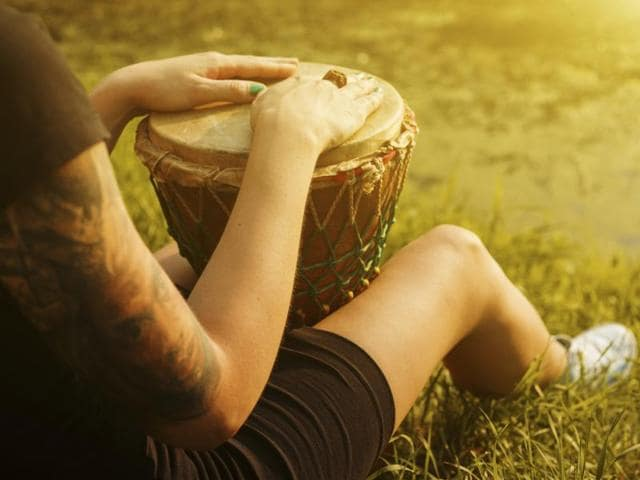 A drum — due to its intrinsic rhythmic nature — has a unique way of benefiting those who play it.