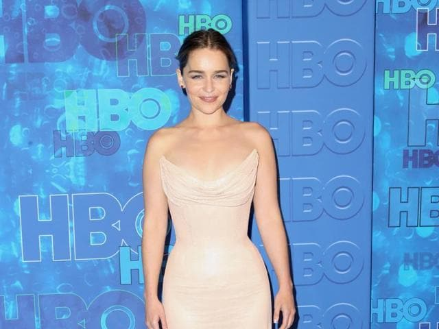 Emilia Clarke attends HBO's Official 2016 Emmy After Party at The Plaza at the Pacific Design Center on September 18, 2016 in Los Angeles, California.