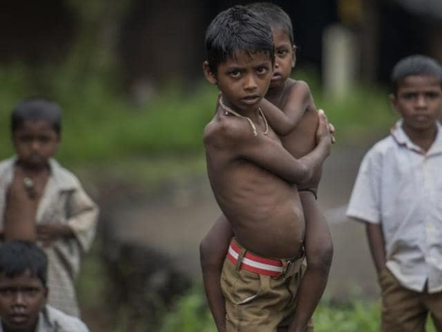 Weighing just about five kilos, a kilo lesser than his one-and-half-year-old younger sibling, Manoj is one of the thousands of malnourished children in the Palghar district, around 110km from Mumbai.
