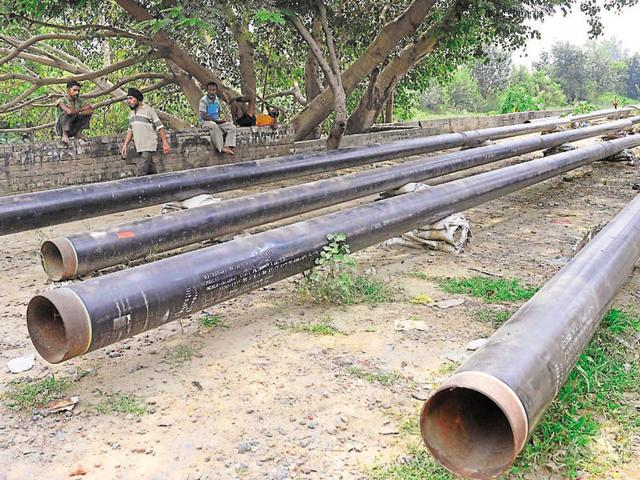 Pipelines to be laid in the first phase of the project lying in Sultanwind Road area in Amritsar.