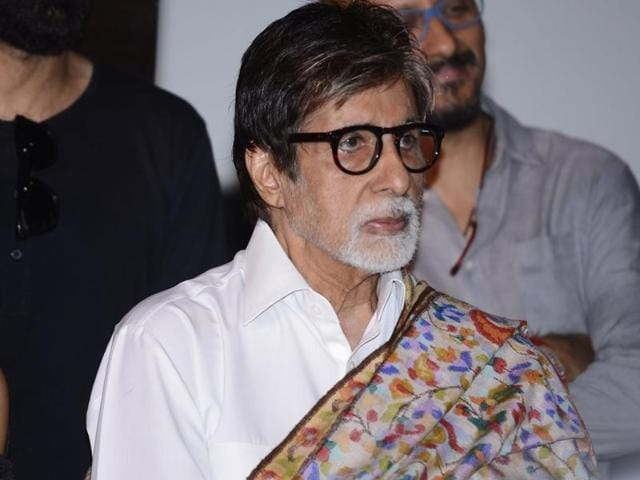 Amitabh Bachchan during the press conference of the film Pink in Mumbai on September 19.