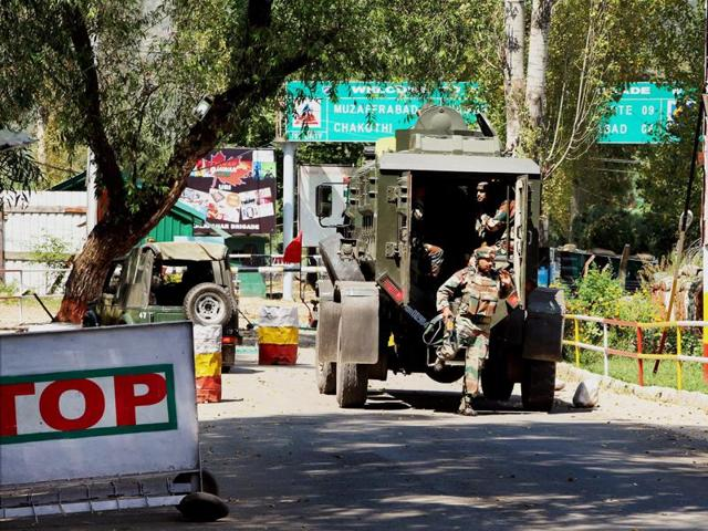 Army personnel at the Army Brigade camp during the terror attack in Uri, Jammu and Kashmir.
