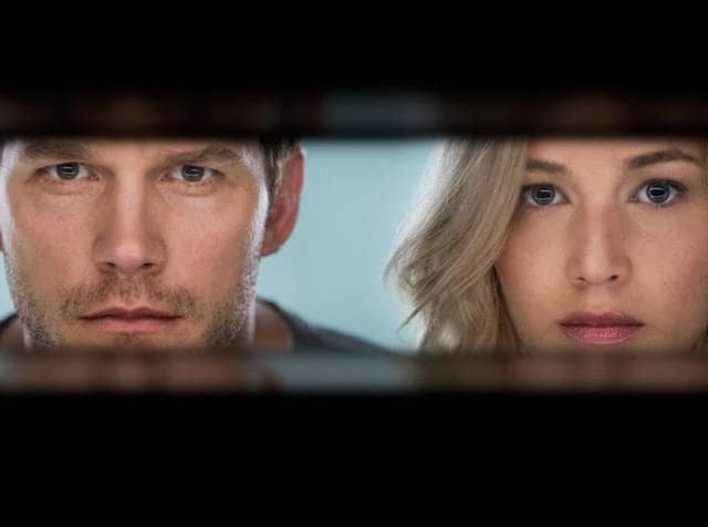 Chris Pratt and Jennifer Lawrence alone in space. Wonder what happens next?