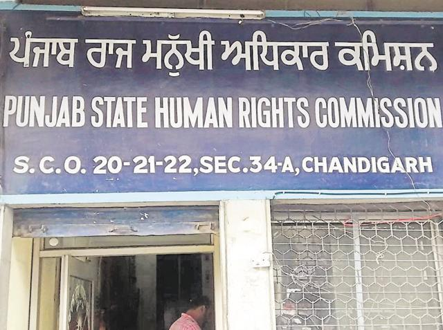 Punjab State Human Rights Commission operates out of this modest office in Chandigarh.