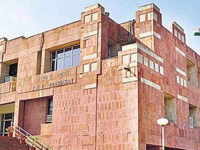 A file photo of the JNU administrative building. Anmol Ratan, accused of raping a first-year PhD student on August 20, had surrendered before the police on August 25 and is currently in judicial custody.