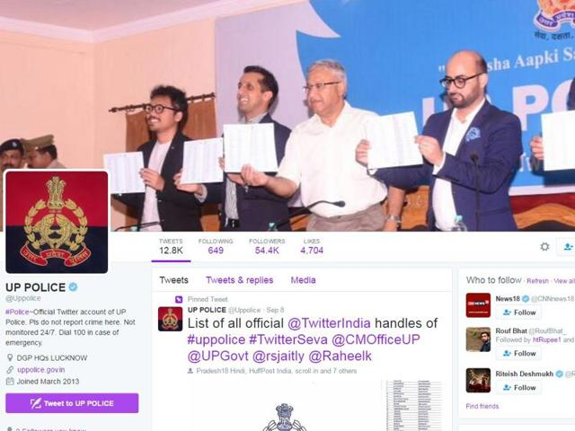 The UP police Twitter handle officially began redressing public grievances on September 8.