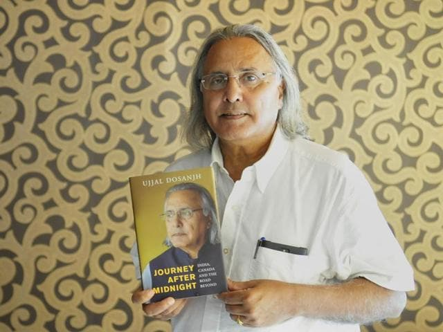 Former British Columbia premier Ujjal Dosanjh during the launch of his autobiography in Chandigarh on Tuesday.