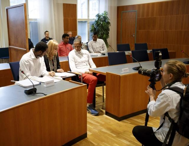The court of Tampere, Finland, shows players of Cuba's national volleyball team accused of rape. Five members of Cuba's national volleyball team were jailed on September 20, 2016 in Finland for a rape that took place during a Volleyball World League event in July, a district court said. A sixth player was acquitted of the same charge.