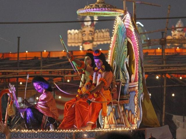The popular Luv Kush Ramlila is staged in the Red Fort area every year.