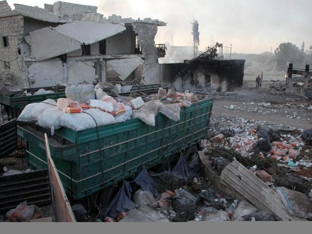 united nations,UN in syria,aid suspended