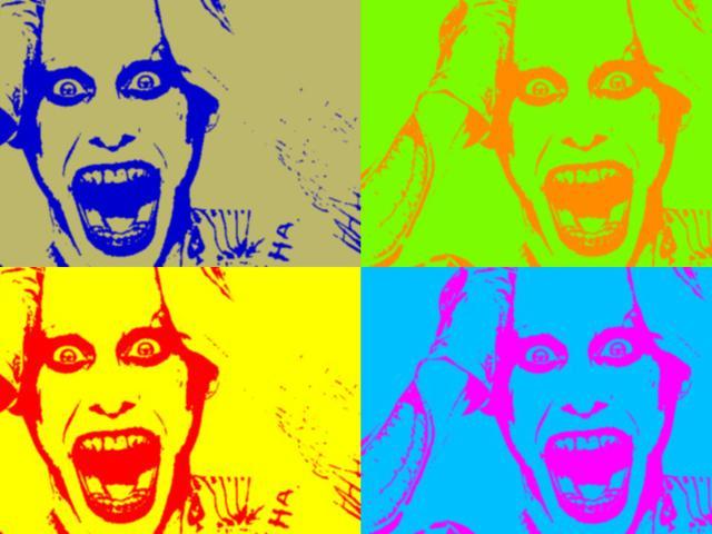 Jared Leto, Warhol-ified.