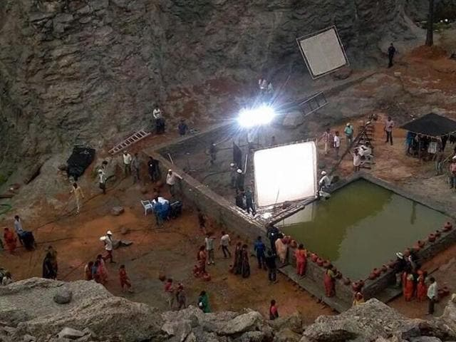 Baahubali 2 leaked images are from the film's shoot in Rayalseema region of Andhra Pradesh.