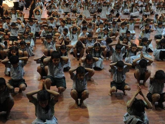 Schools affiliated with the CBSE board said they were holding the first summative assessments, owing to which they couldn't observe the Yoga Day onWednesday
