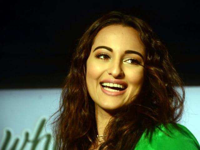 Actress Sonakshi Sinha during a programme in Mumbai.